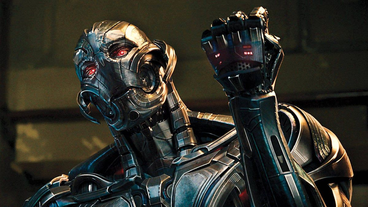 Ultron holds up a fist in Age of Ultron