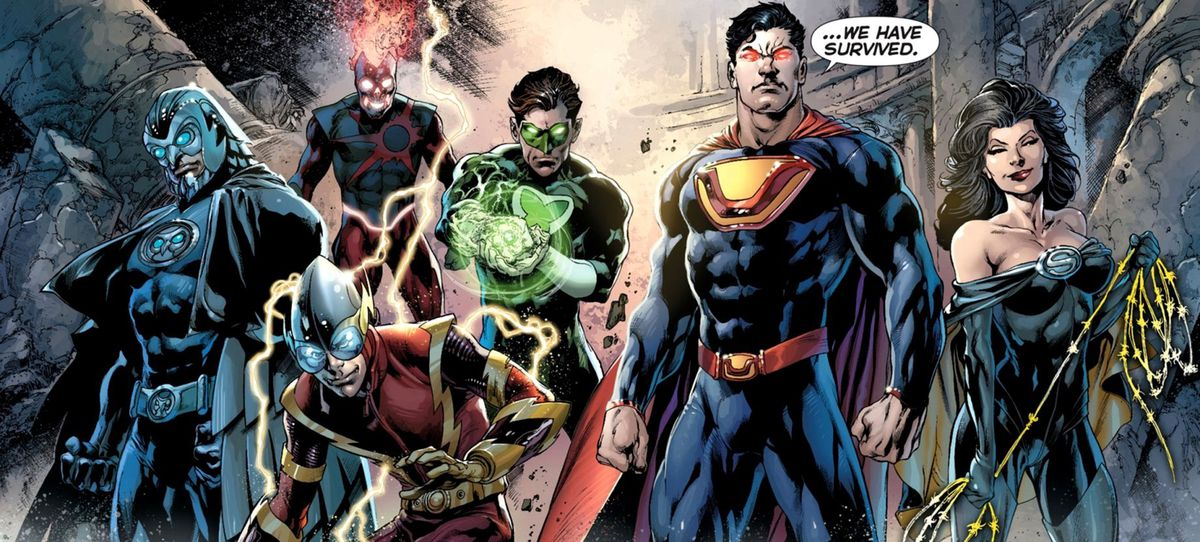 The Crime Syndicate, members of an evil, alternate universe version of the Justice League.