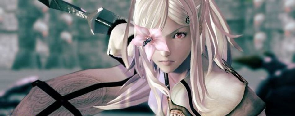 A scene from Drakengard 3 involving stuff I don't fully understand if I'm being super real with you.