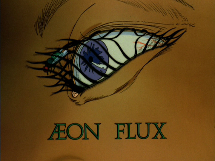 The title card of the 1991 Aeon Flux Pilot