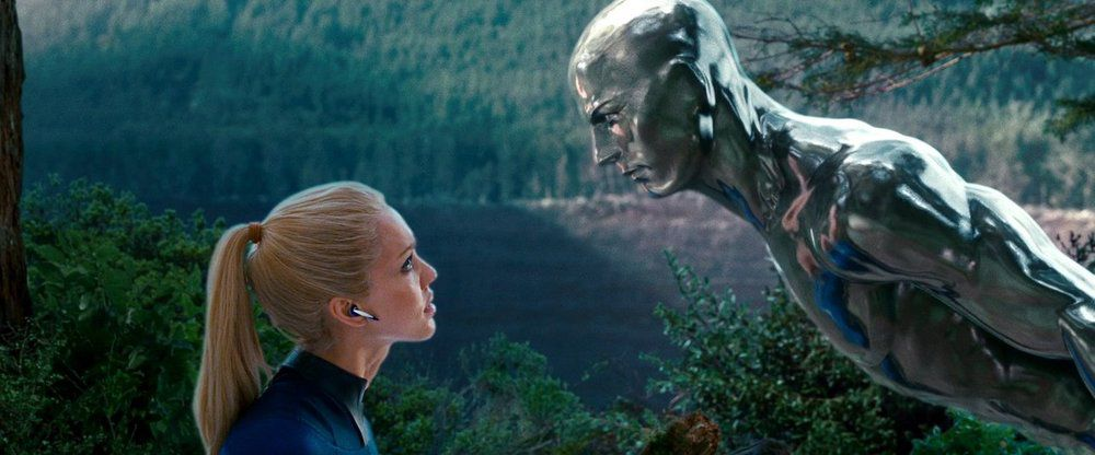 the silver surfer talks to sue storm