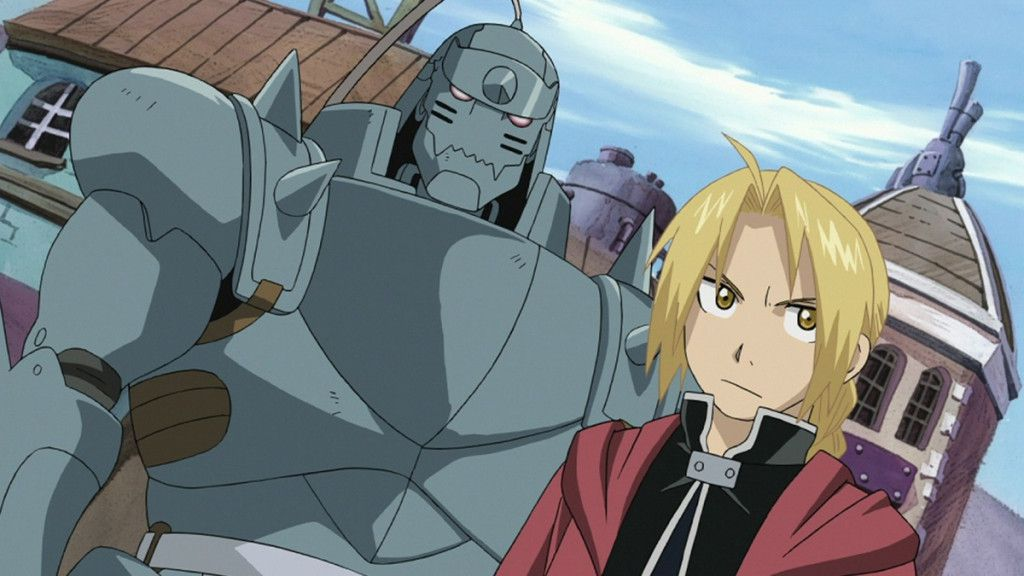 """Alphone Elric and his brother Edward, the """"Fullmetal Alchemist."""""""