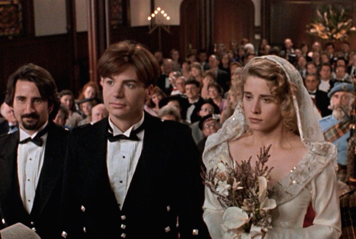 Mike Myers and Nancy Travis in So I Married An Axe Murderer