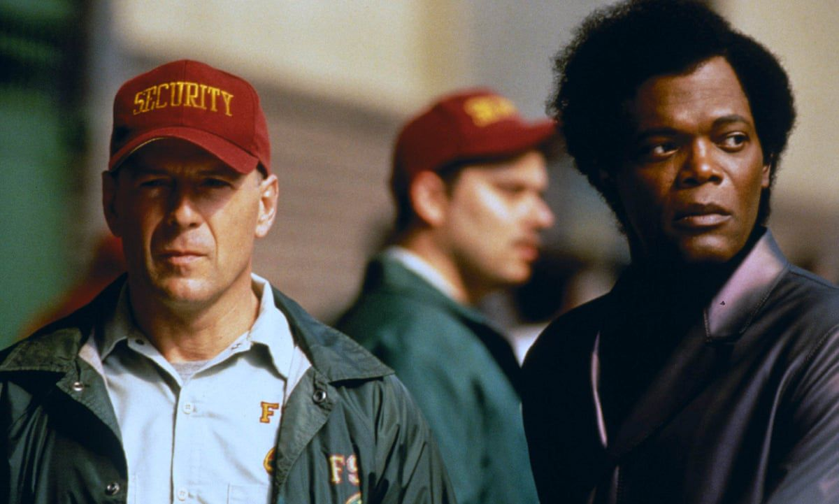 Bruce Willis and Samuel L. Jackson in Unbreakable