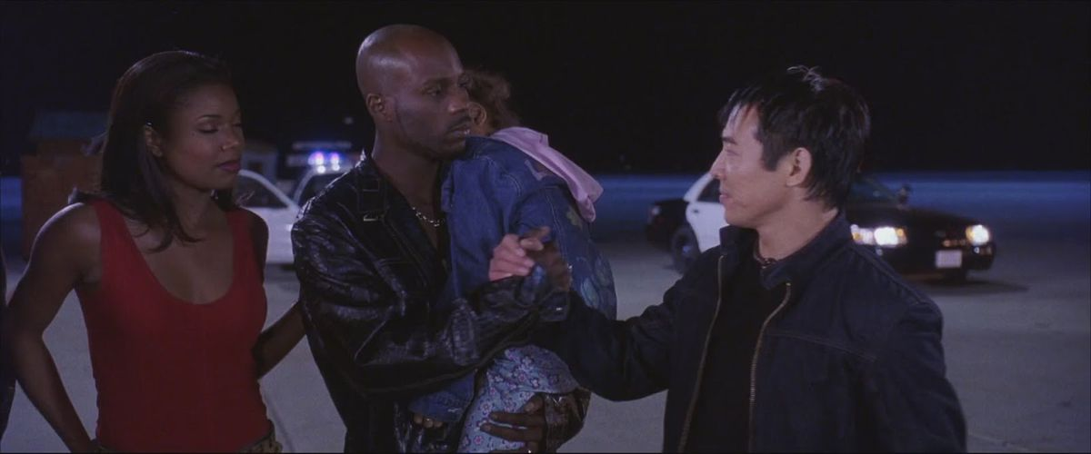 DMX and Jet Li shake hands in Cradle 2 the Grave