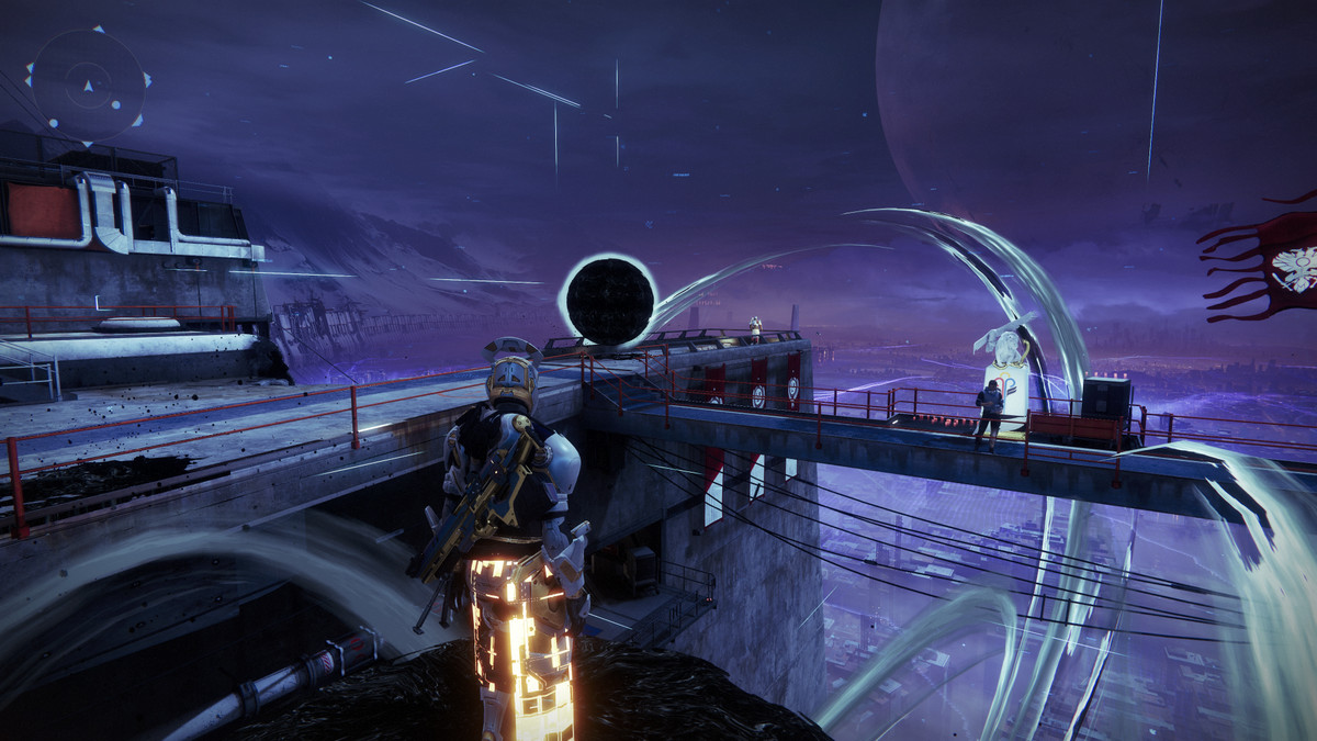 A Titan stands in the Taken Tower