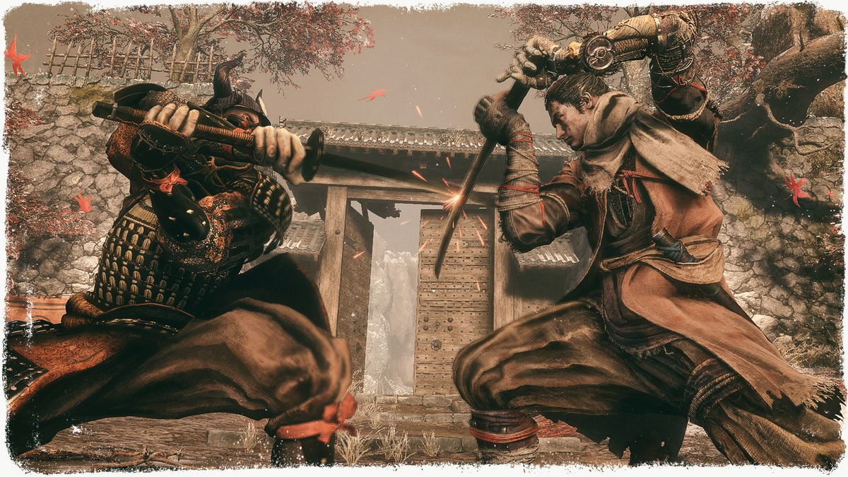 Sword fight from the Sekiro video game