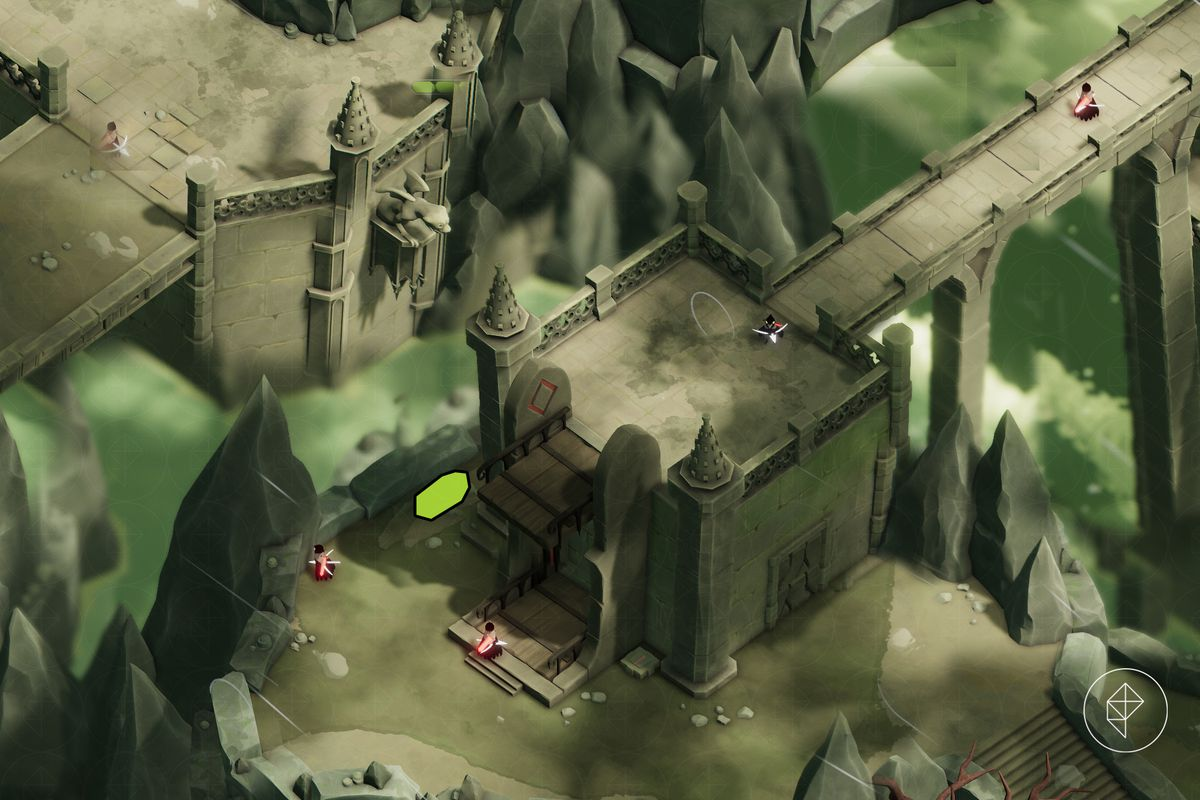 A map of The Lost Cemetery by a lift with a green gem indicator to the left.