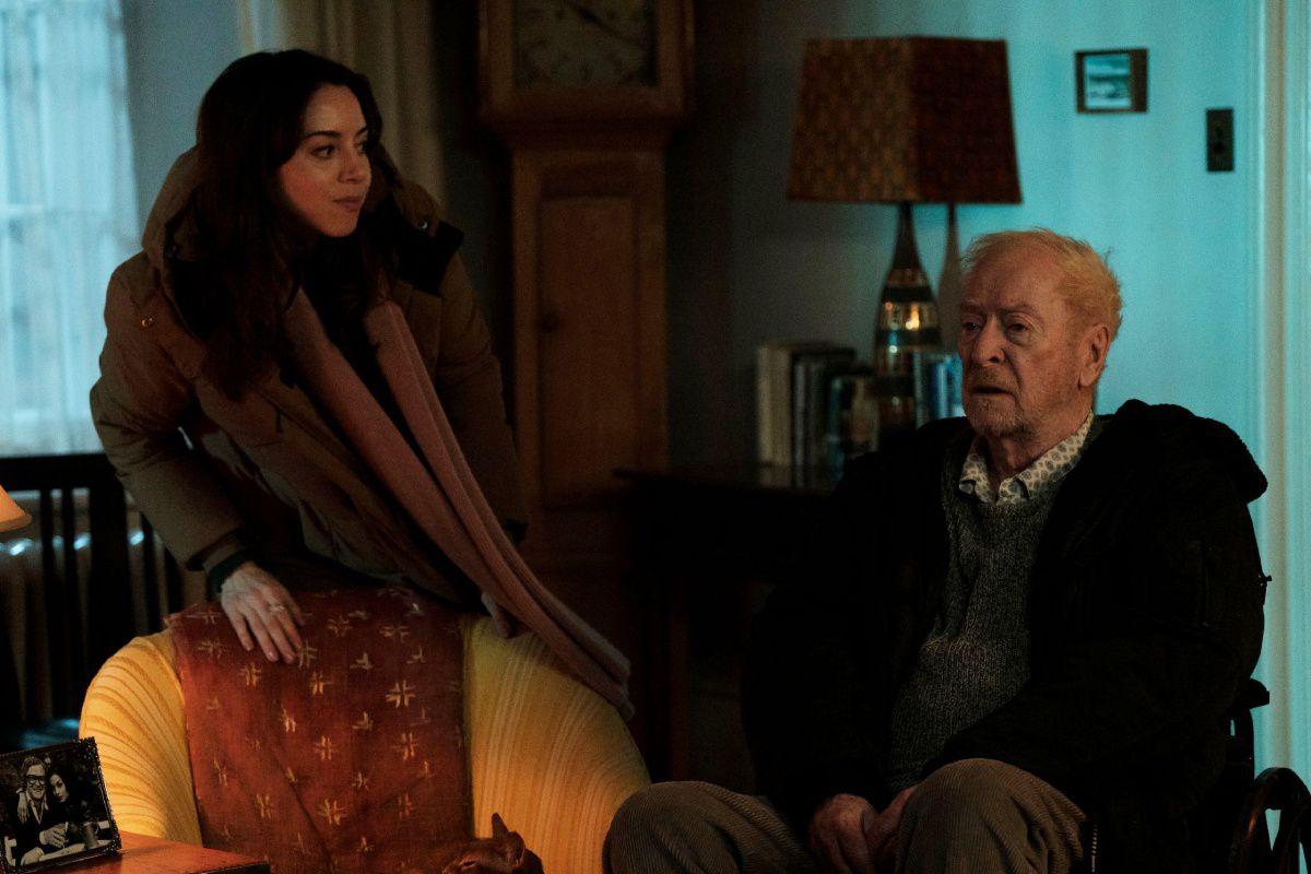 Aubrey Plaza and Michael Caine in Best Sellers