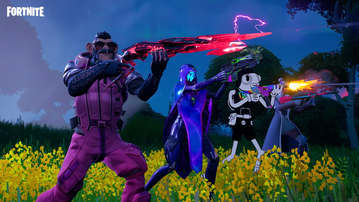 Some of the skins from Fortnite's season 8 battle pass
