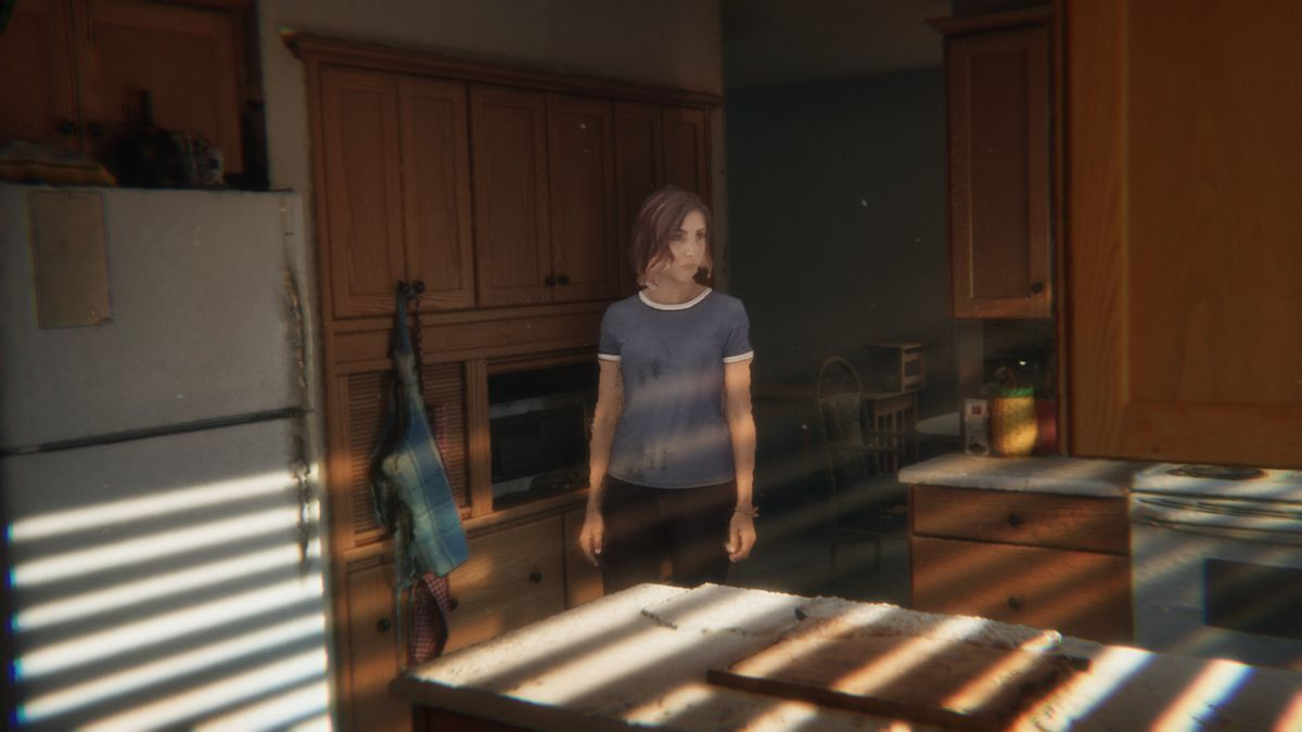 A rough shot from one of the volumetric sequences in Demonic, with an actor walking into a dramatically lit kitchen