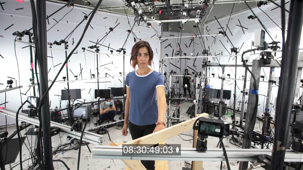 The volumetric rig from Demonic, with 260 cameras attached to a dome-shaped rig