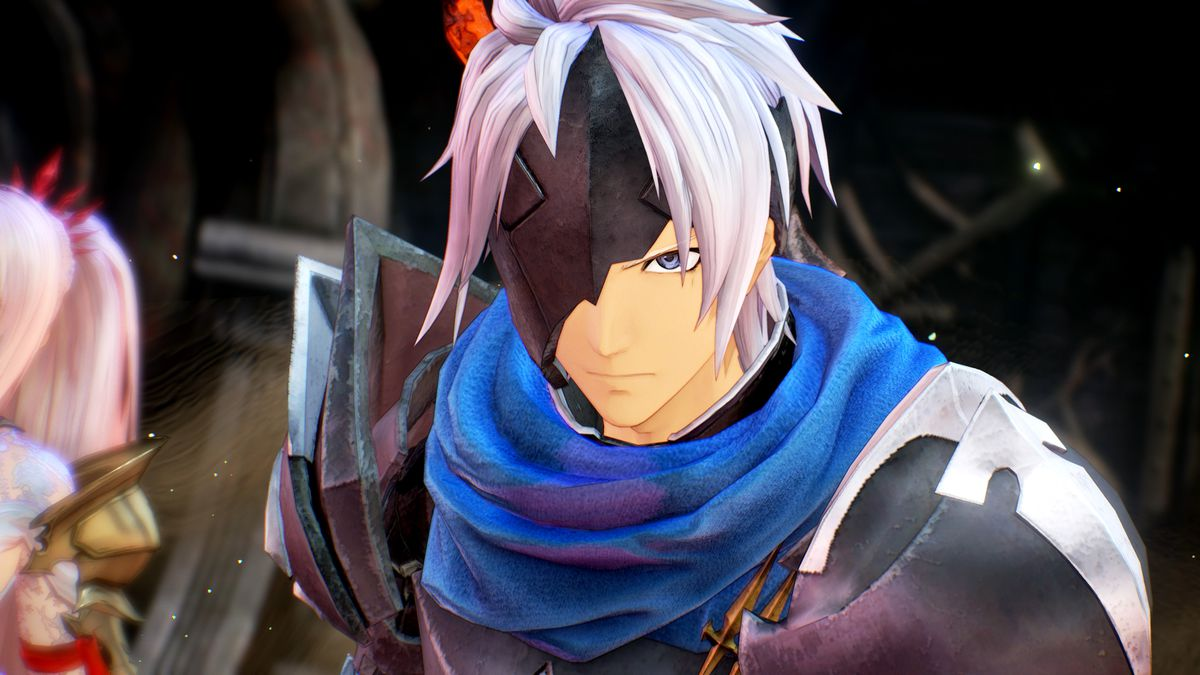 A character with one eye covered looks at the player