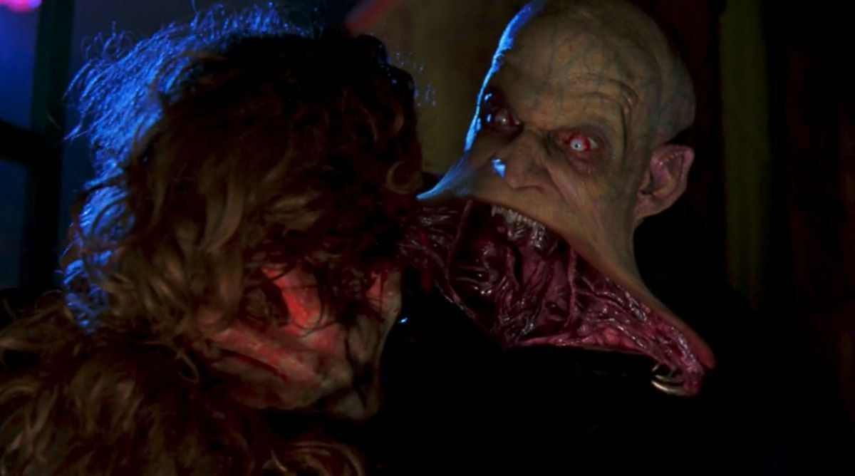"""The mutant """"reaper"""" vampire Jared Nomak unhinging his jaw to devour his prey in Blade 2 (2002)"""